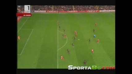 Ливърпул 2 - 1 Атлетико Мадрид 1/2 - финал реванш Лига Европа {общ резултат 2:2} (29.04.2010)