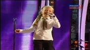 8-годишно Момиче Изуми С Гласа Си Публиката Украйна Търси Талант