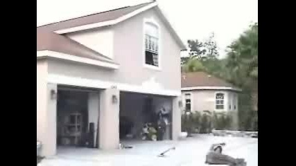 Със Скейт От Покрива