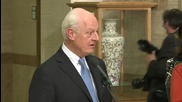 Switzerland: De Mistura expects opposition delegation to arrive Sunday for Syria talks