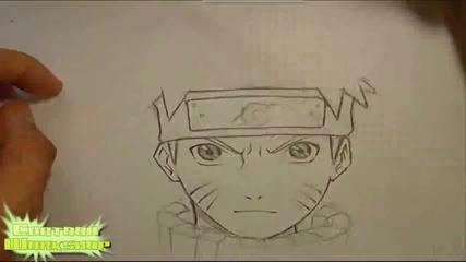 Как да нарисуваш Наруто Узумаки! [naruto shippuuden]