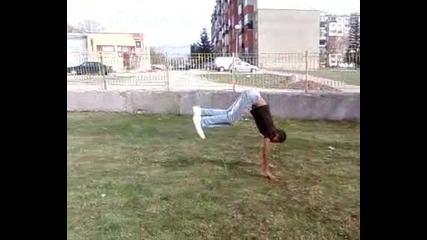 wall flip and 5 flick flack
