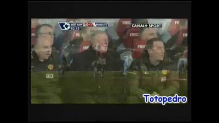 Уест Хям - Манчестър Юнайтед 0:1 08.02.2009