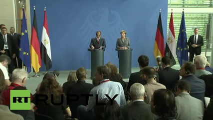 Germany: Merkel acknowledges differences with Egypt but pledges