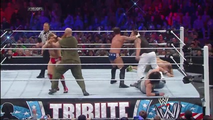 John Cena, Cm Punk & Daniel Bryan vs. The Wyatt Family- Tribute to the Troops 2013