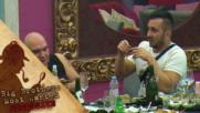 Коцето хваща мускулна треска, когато говори на английски - Big Brother: Most Wanted