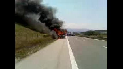 Автобус по линията София - Рибарица се запали (3)
