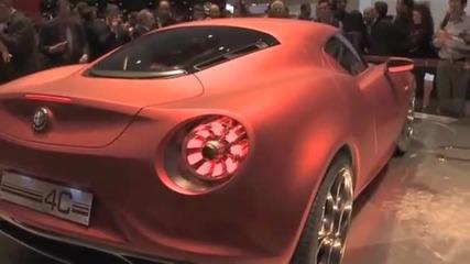 Представянето на Alfa Romeo 4c Concept в Женева