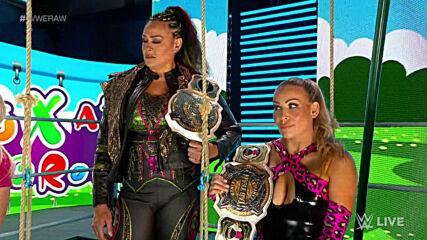 Alexa Bliss creeps out WWE Women's Tag Team Champions Natalya & Tamina: Raw, May 17, 2021