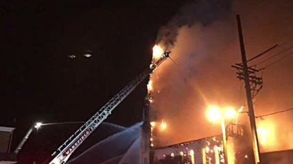 USA: Blaze guts historic Massachusetts church
