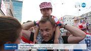 Шампионско посрещане за сребърните хървати