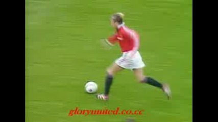 David Beckham Manchester United Goals from 1994 - 1999