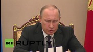 Russia: Putin discusses Russia's arms trade stategies