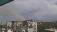 Пожар пламна в блок в центъра на София