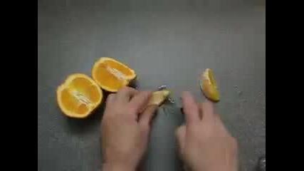 Забавен Трик С Портокал - Жълти Зъбки