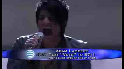 Adam Lambert - Black & White - American Idol 8