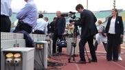 Тренировката на Англия на стадион Васил Левски