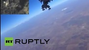 Syria: *FULL FOOTAGE* GoPro captures Russian jet dropping munitions on ISIS