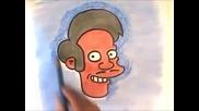 Рисуване на продавача Апу