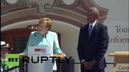 Germany: Obama and Merkel exchange warm words at Bavarian folk festival