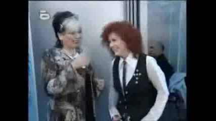 Люси Зад  Сцената На Music Idol среща най-големия си идол(06.05.2008)