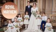 Royal kids steal Princess Eugenie's thunder in wedding portrait