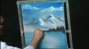 S14 Радостта на живописта с Bob Ross E01 - далечни планини ღобучение в рисуване, живописღ