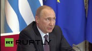 Russia: Greece was forced to vote for sanctions on Russia says Putin