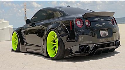 4k Gt-r R35 Black Edition Armytrix Exhaust Bagged Liberty Walk by Xn Works