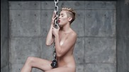 + Текст* New ! Miley Cyrus - Wrecking Ball (official Video)