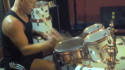 """Mike Terrana - """"in the Studio Tuning, Setting Up & Jamming"""" ;)"""