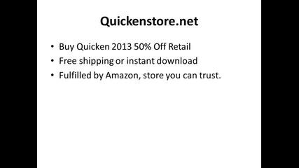 Secret source for 50-70% Discount on Quicken 2013
