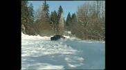 Audi A4 Танцува На Сняг
