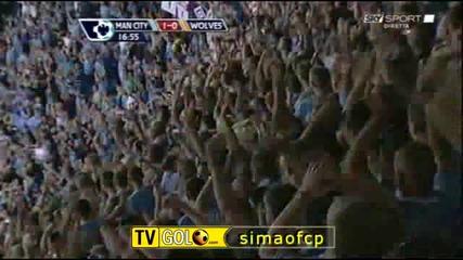 22.08.09 Гол на Емануел Адебайор за Манчестър Сити срещу Уулвърхямптън