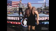 WWE John Cena, Batista & Rey Mysterio vs. Randy Orton, Chris Jericho & Big Show - RAW Tribute to the Troops 2008 **HQ**