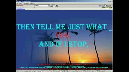 Michael Jackson - I just can t stop loving you (karaoke)