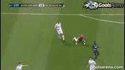 Феноменален гол в 25сек. 05.04.2011 Интер 1:0 Шалке ( гол на Станкович )