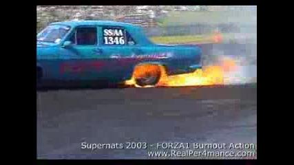 Gaz 24 V8 burnout!!!!