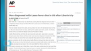 Man Diagnosed With Lassa Fever Dies in US After Liberia Trip