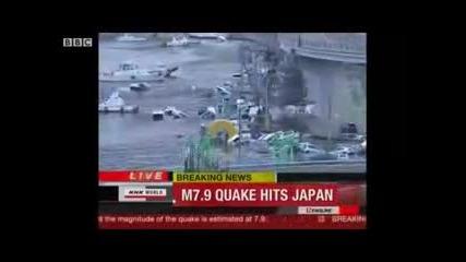 Мощно цунами удари Североисточната част на Япония