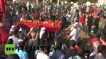 Turkey: Hundreds mourn activist slain during police operation