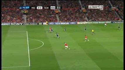 Манчестър Юнайтед-шалке 3:1 гол на Андерсон