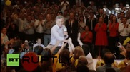 Argentina: Opposition leader M. Macri attends final rally before Sunday's election