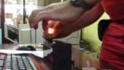 Проба неработеща диодна крушка / Sample non-operating diode bulb