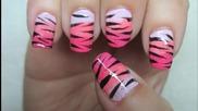 Зебра&тигър маникюр - лесен и бърз