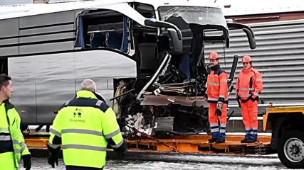 Switzerland: At least 1 dead, 44 injured in bus crash near Zurich