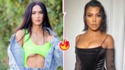 Секси и топлес: Меган Фокс и Кортни Кардашиян хвърлиха горнищата и се гушнаха