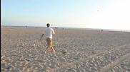 Бекъм със страхотни изпълнения на плажа !