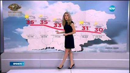 Прогноза за времето (15.08.2015 - сутрешна)