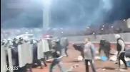 Жесток скандал на Руски фенове с Полицията